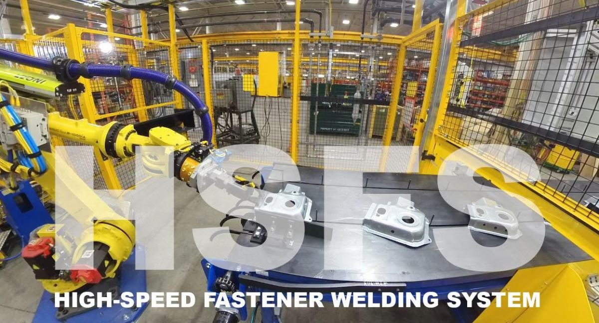 High speed fastener welding system cell image